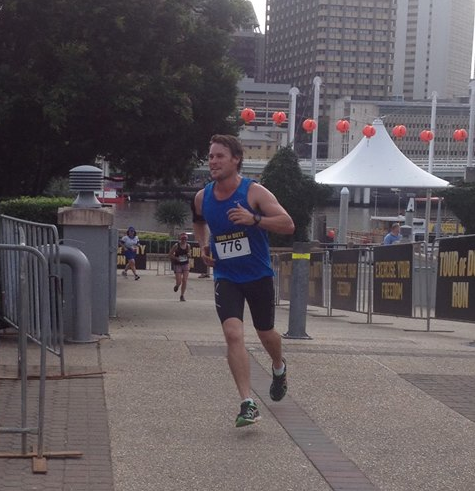 The new Eddie Rae completing the 2015 ANZAC Charity Run